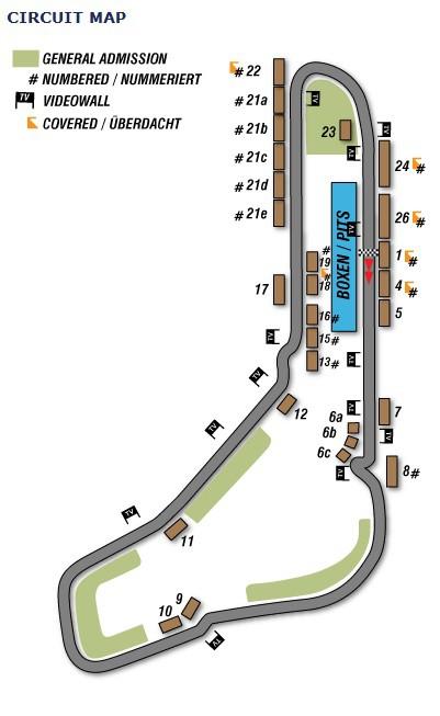 F1 karta Italien - Monza