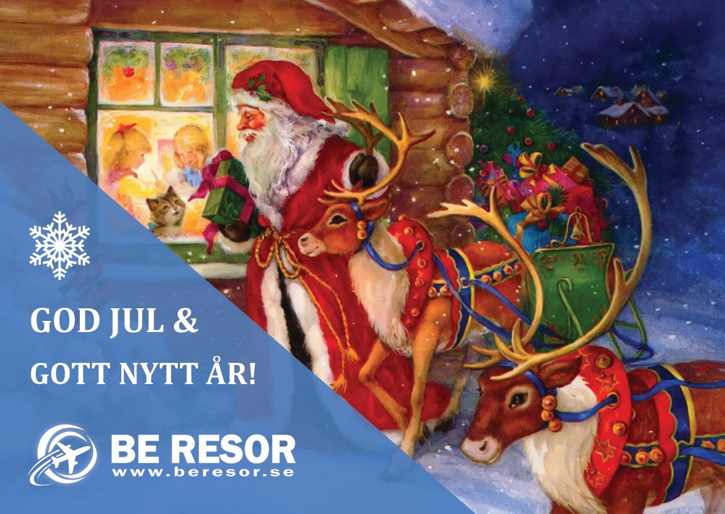 God jul önskar BE Resor AB