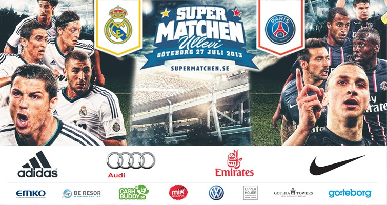 Supermatchen Real Madrid - Paris St Germain